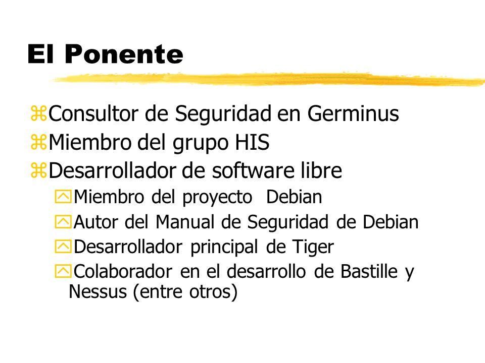 El Ponente Consultor de Seguridad en Germinus Miembro del grupo HIS