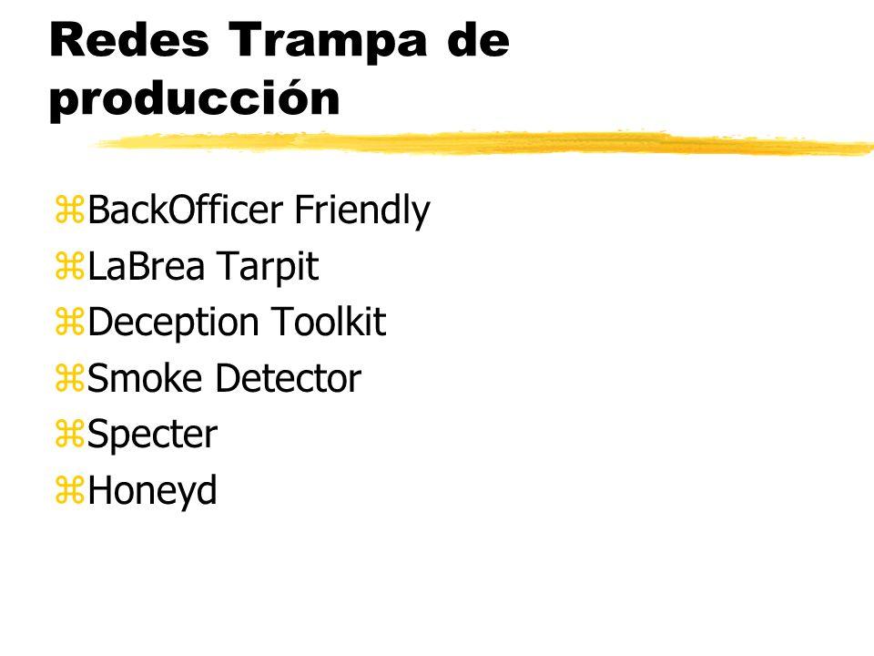 Redes Trampa de producción