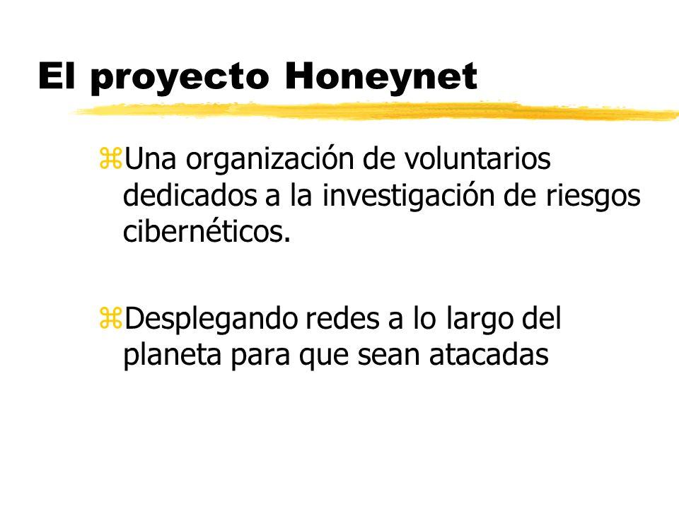 El proyecto Honeynet Una organización de voluntarios dedicados a la investigación de riesgos cibernéticos.