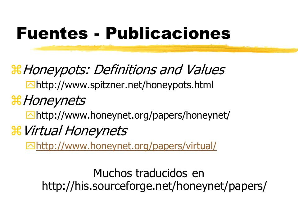 Fuentes - Publicaciones