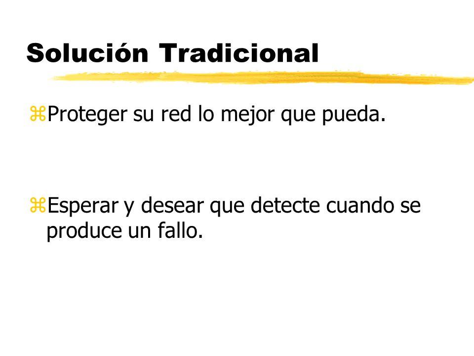 Solución Tradicional Proteger su red lo mejor que pueda.