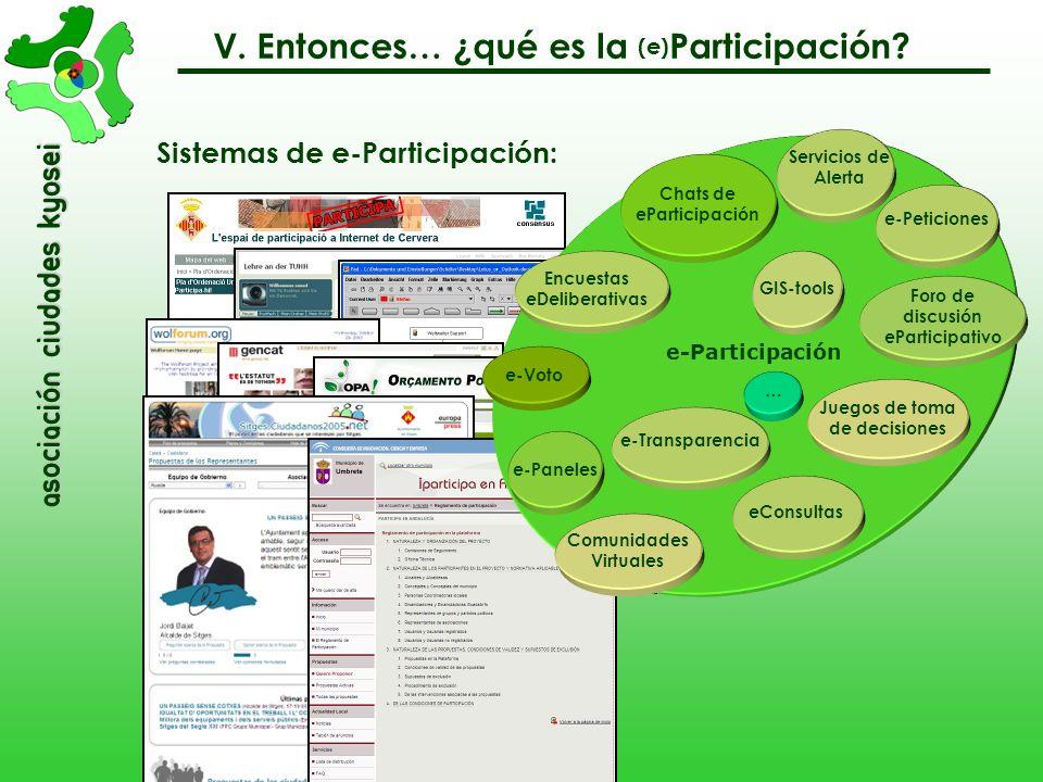Sistemas de e-Participación: