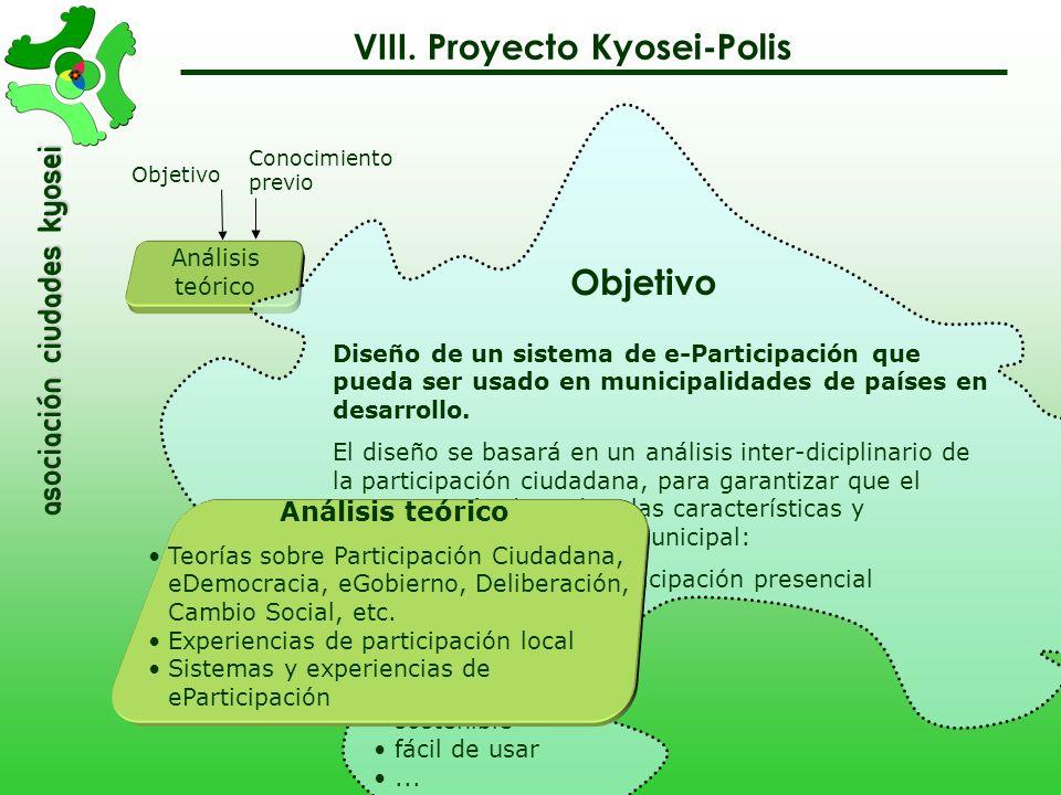 VIII. Proyecto Kyosei-Polis