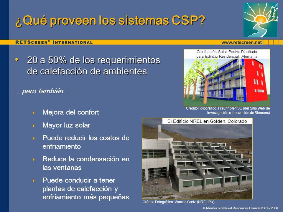 ¿Qué proveen los sistemas CSP
