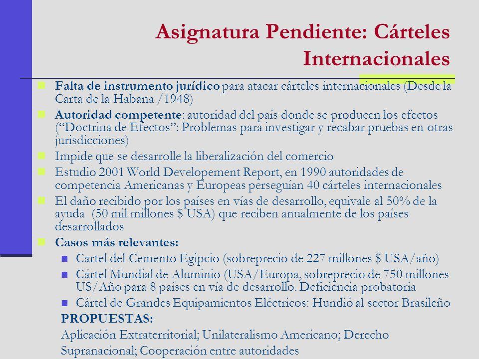 Asignatura Pendiente: Cárteles Internacionales