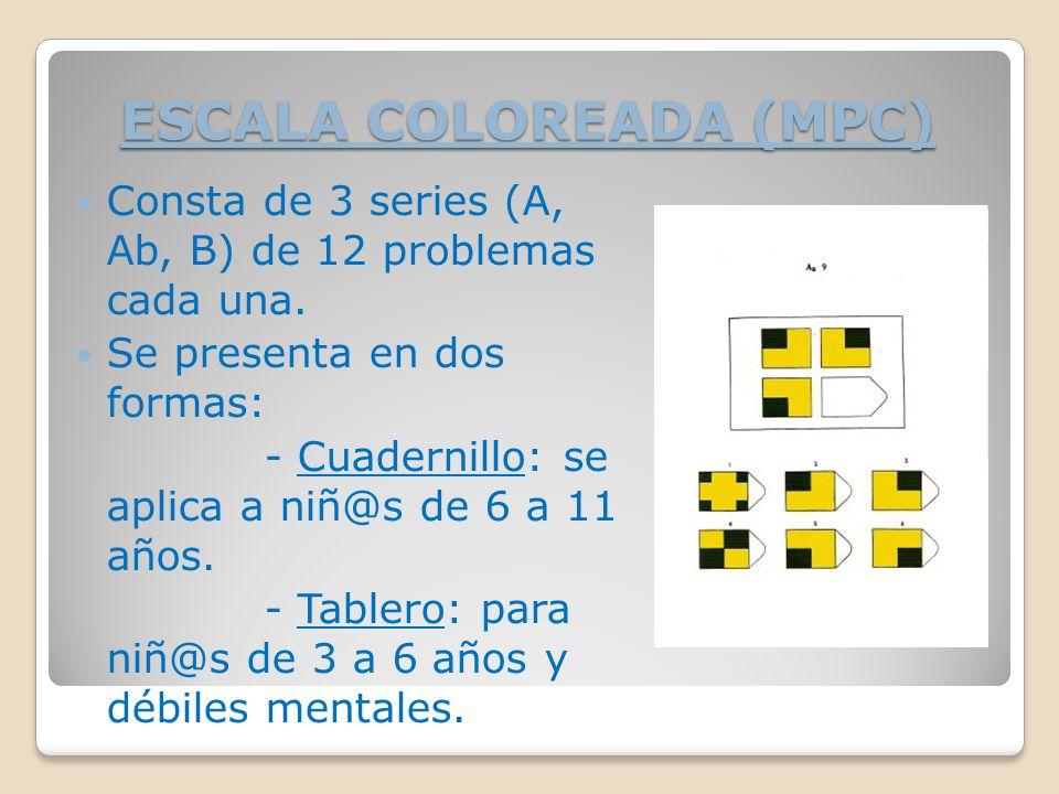ESCALA COLOREADA (MPC)