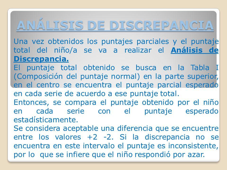 ANÁLISIS DE DISCREPANCIA