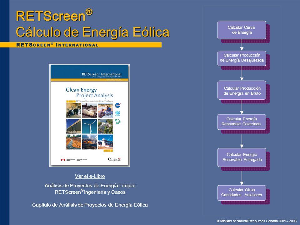 RETScreen® Cálculo de Energía Eólica