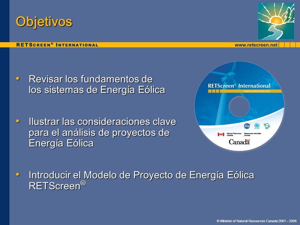 Objetivos Revisar los fundamentos de los sistemas de Energía Eólica