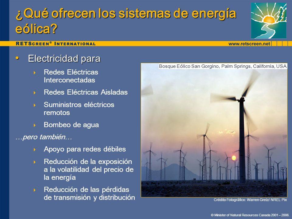¿Qué ofrecen los sistemas de energía eólica