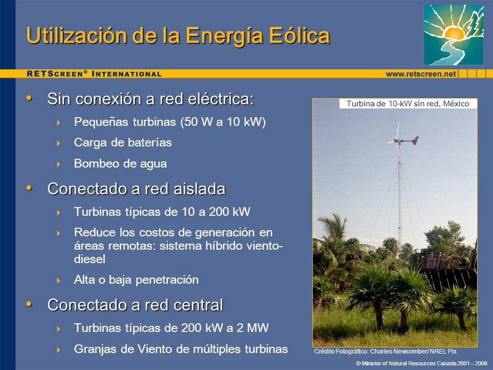 Utilización de la Energía Eólica
