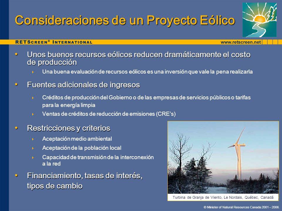 Consideraciones de un Proyecto Eólico