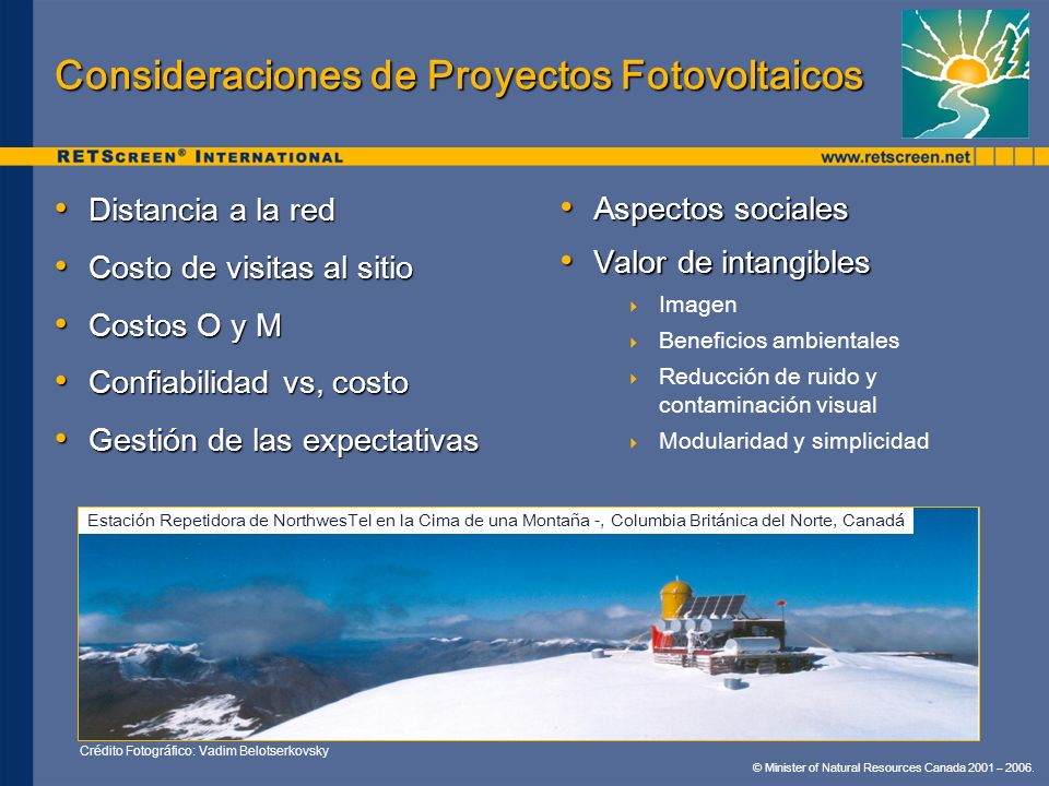 Consideraciones de Proyectos Fotovoltaicos
