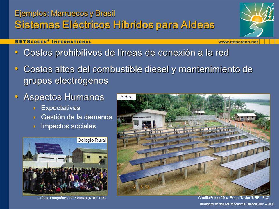 Ejemplos: Marruecos y Brasil Sistemas Eléctricos Híbridos para Aldeas