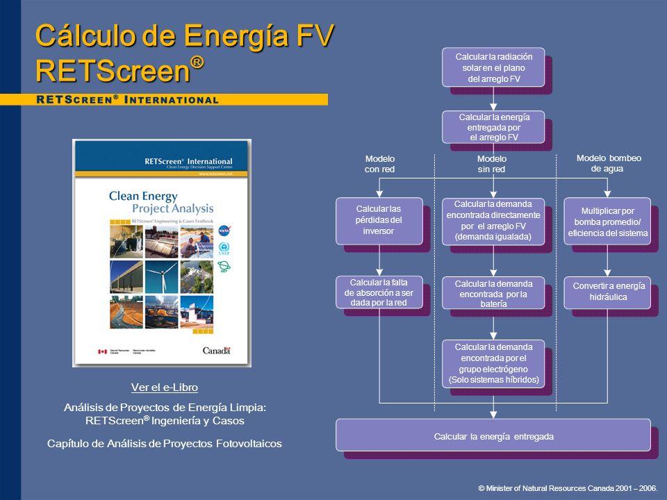 Cálculo de Energía FV RETScreen®
