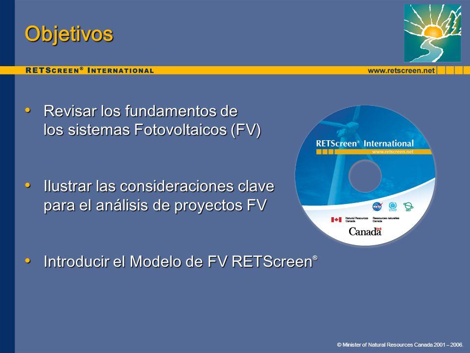 Objetivos Revisar los fundamentos de los sistemas Fotovoltaicos (FV)