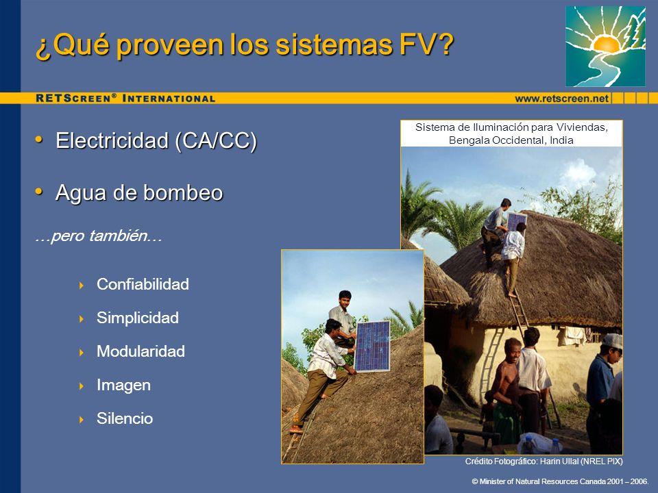 ¿Qué proveen los sistemas FV