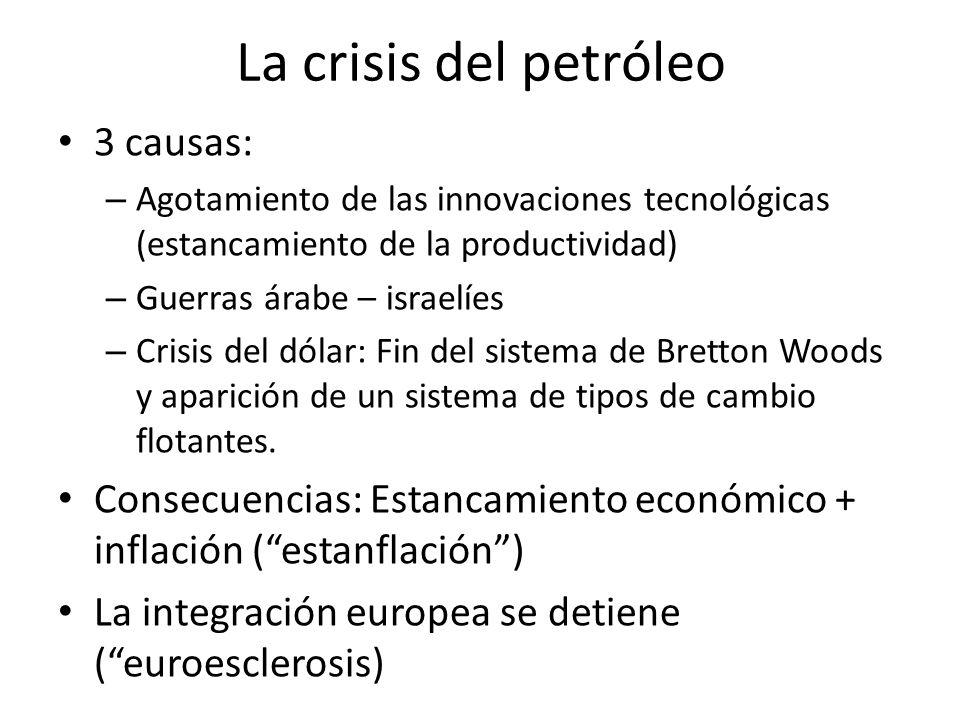 La crisis del petróleo 3 causas: