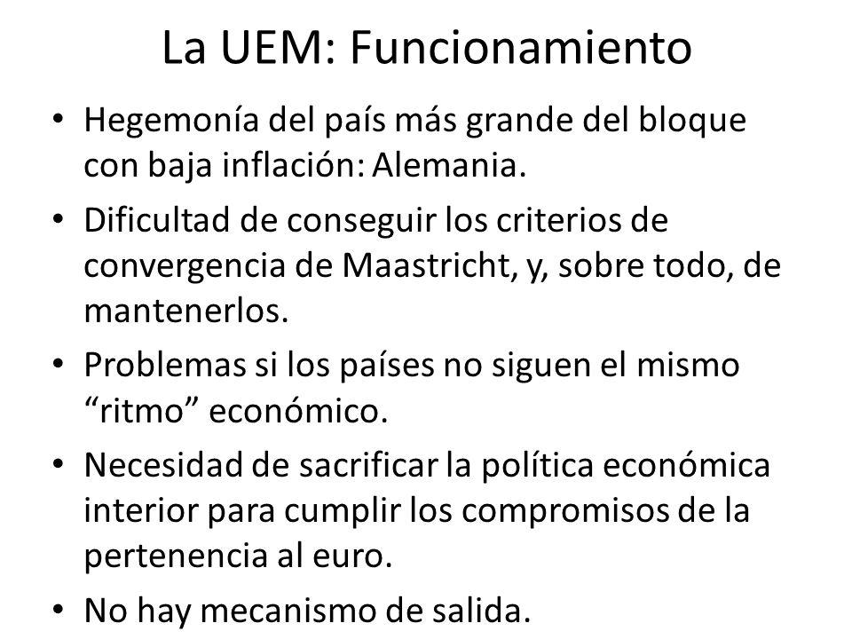 La UEM: Funcionamiento