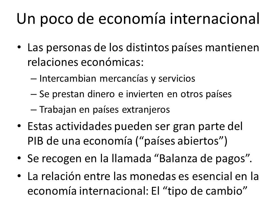 Un poco de economía internacional