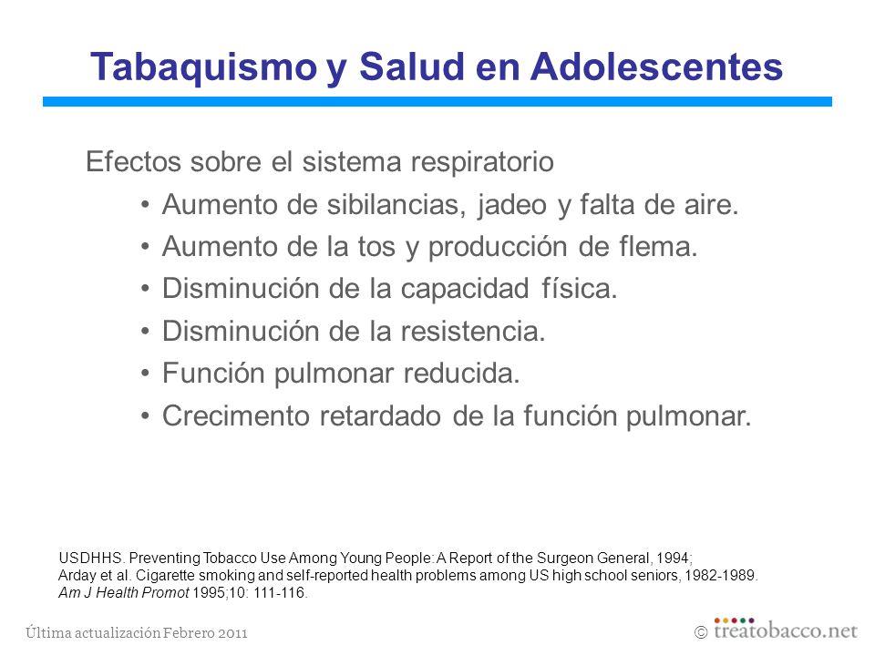 Tabaquismo y Salud en Adolescentes