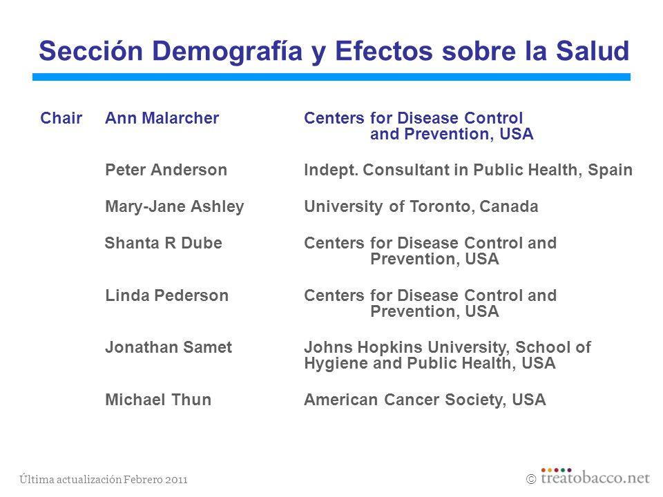 Sección Demografía y Efectos sobre la Salud