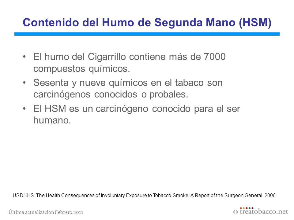 Contenido del Humo de Segunda Mano (HSM)