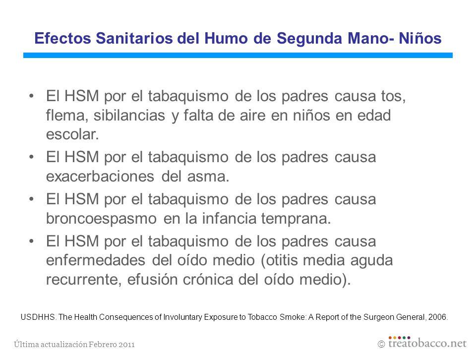 Efectos Sanitarios del Humo de Segunda Mano- Niños