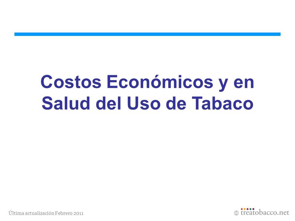 Costos Económicos y en Salud del Uso de Tabaco