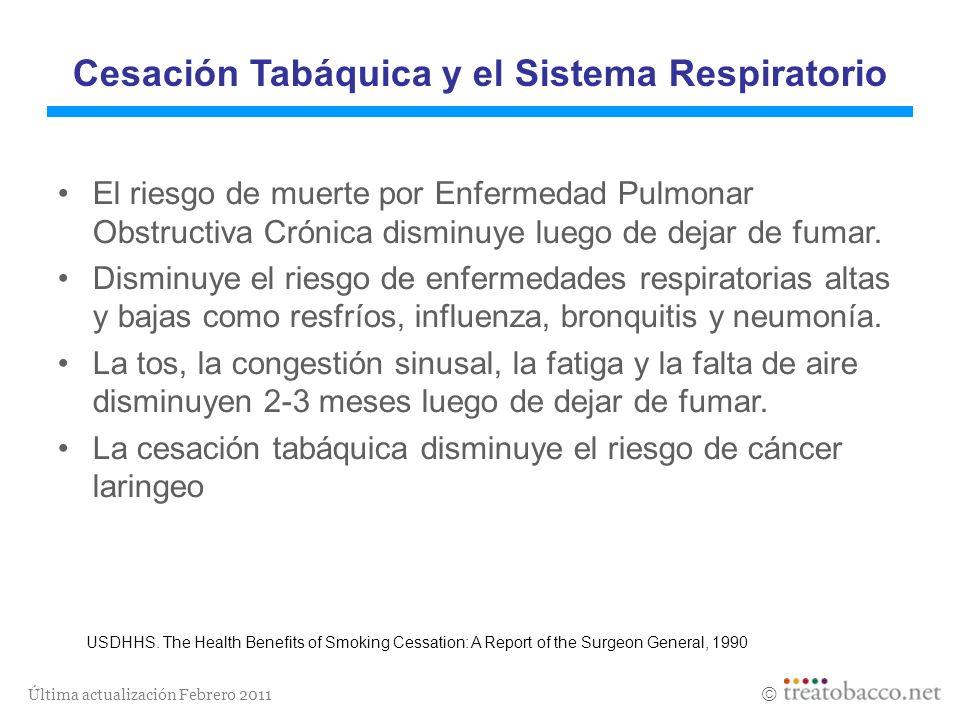 Cesación Tabáquica y el Sistema Respiratorio