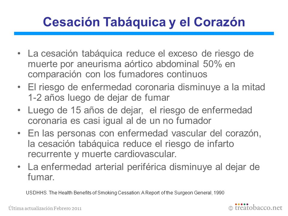 Cesación Tabáquica y el Corazón