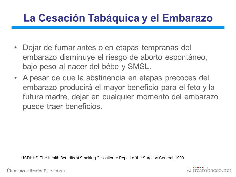 La Cesación Tabáquica y el Embarazo