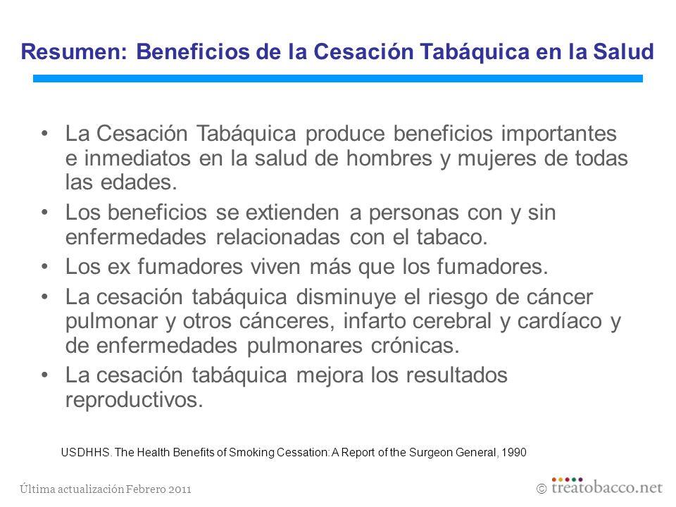 Resumen: Beneficios de la Cesación Tabáquica en la Salud