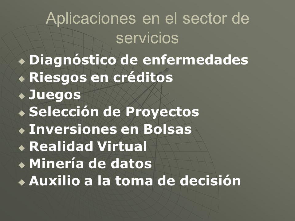 Aplicaciones en el sector de servicios