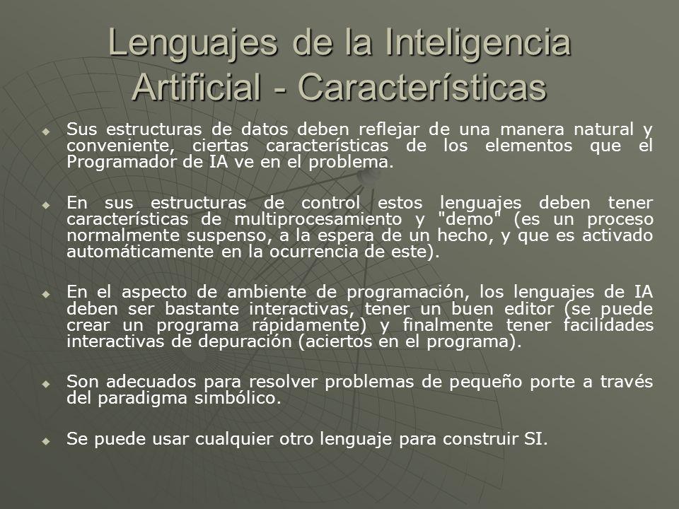 Lenguajes de la Inteligencia Artificial - Características