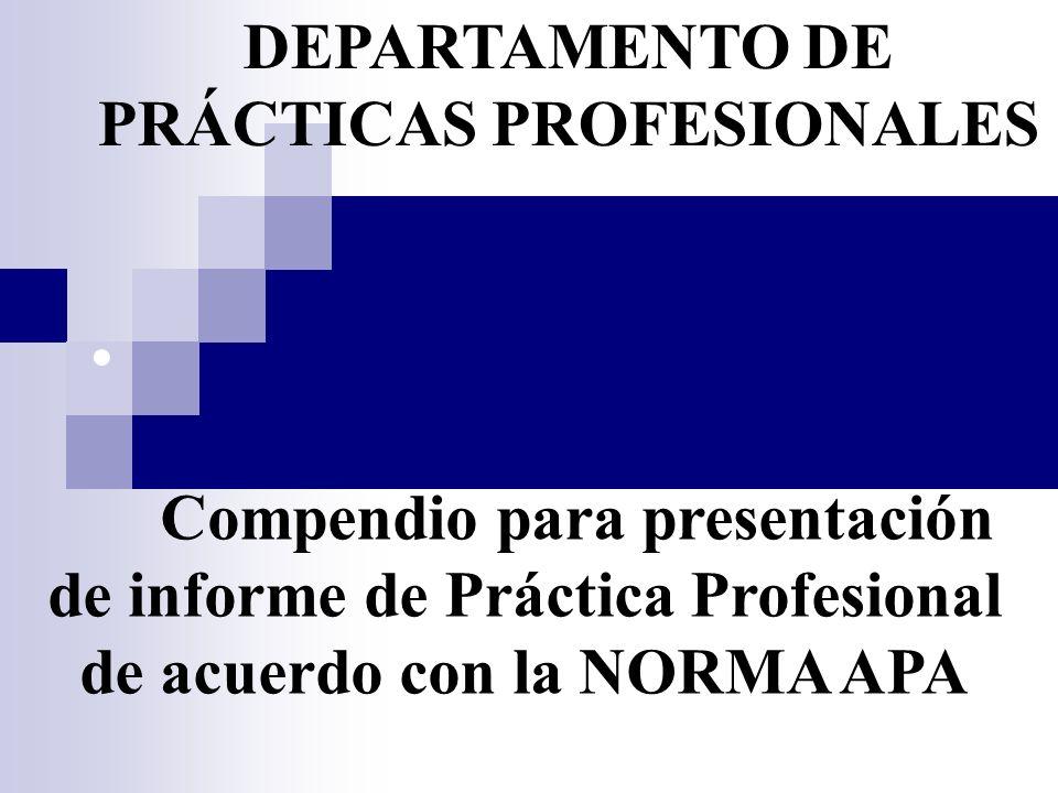 DEPARTAMENTO DE PRÁCTICAS PROFESIONALES
