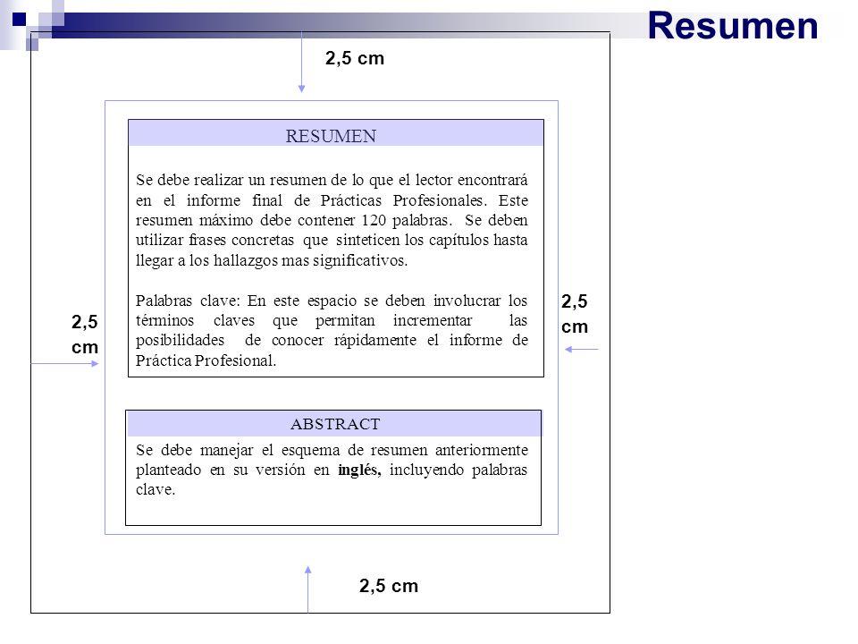Resumen 2,5 cm. RESUMEN.