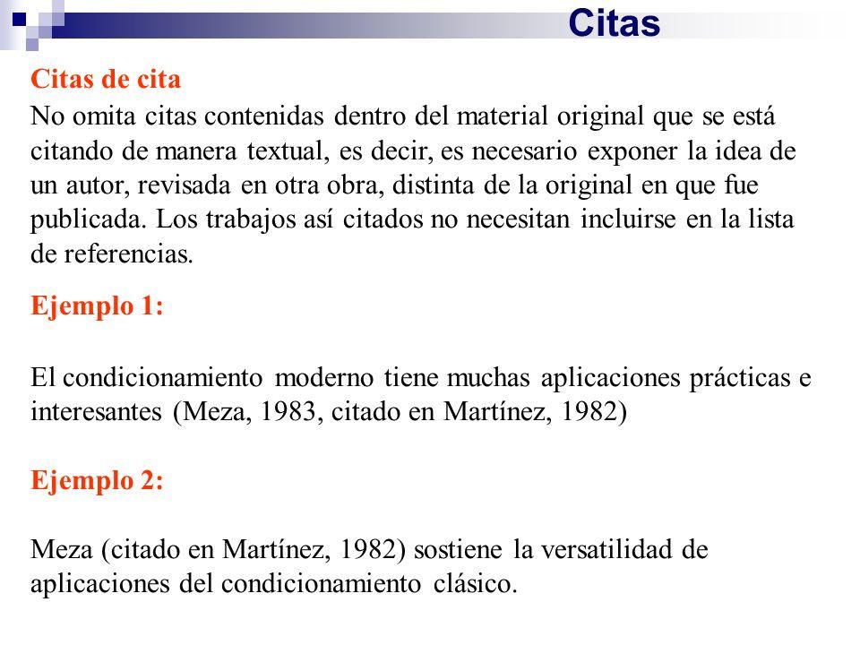 CitasCitas de cita.