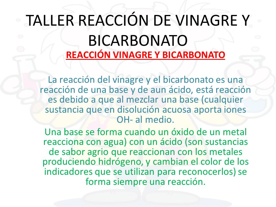 Taller reacci n de vinagre y bicarbonato ppt descargar - Como limpiar la lavadora con vinagre y bicarbonato ...