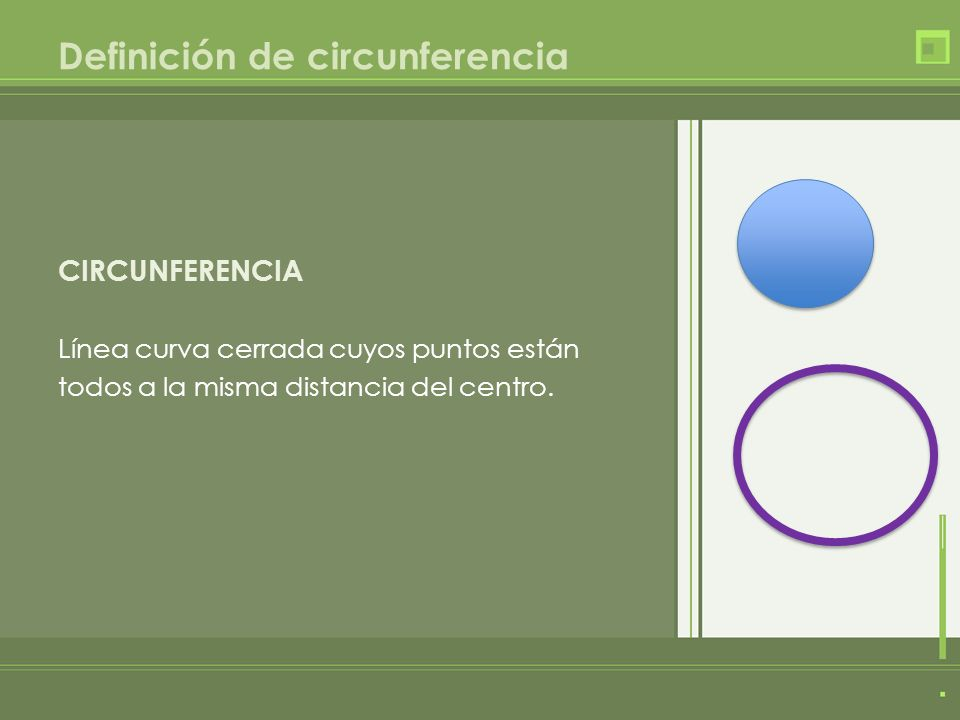 Definición de circunferencia