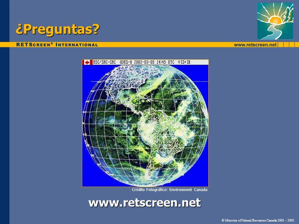 ¿Preguntas www.retscreen.net Crédito Fotográfico: Environment Canada