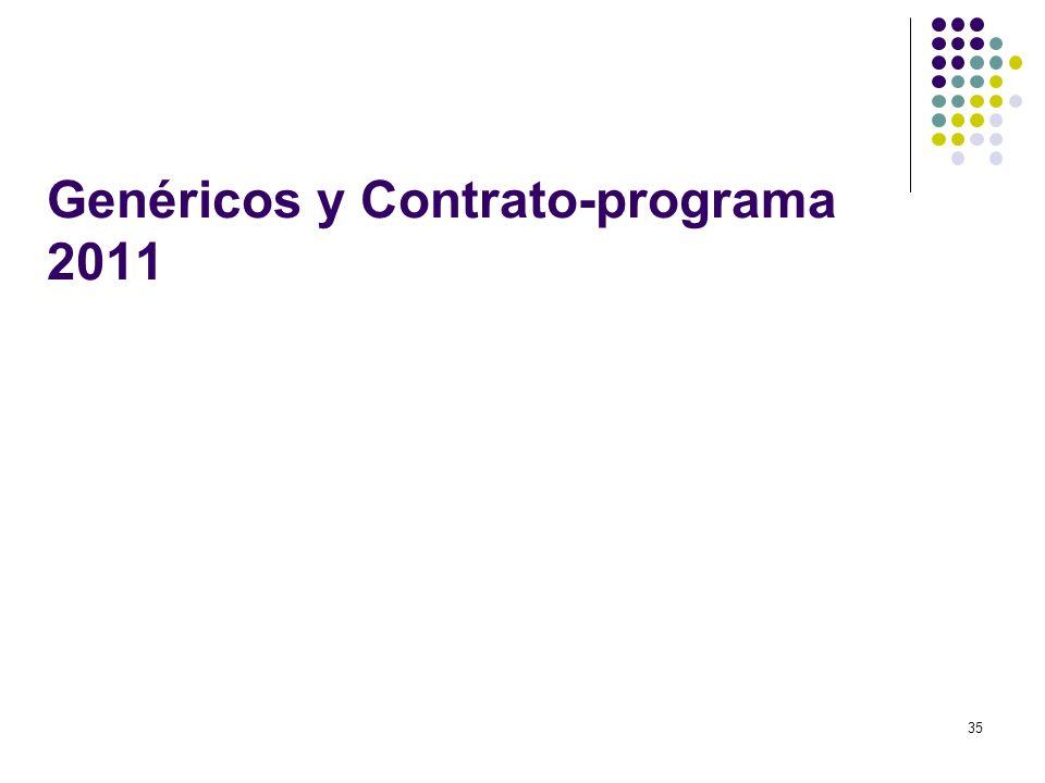 Genéricos y Contrato-programa 2011