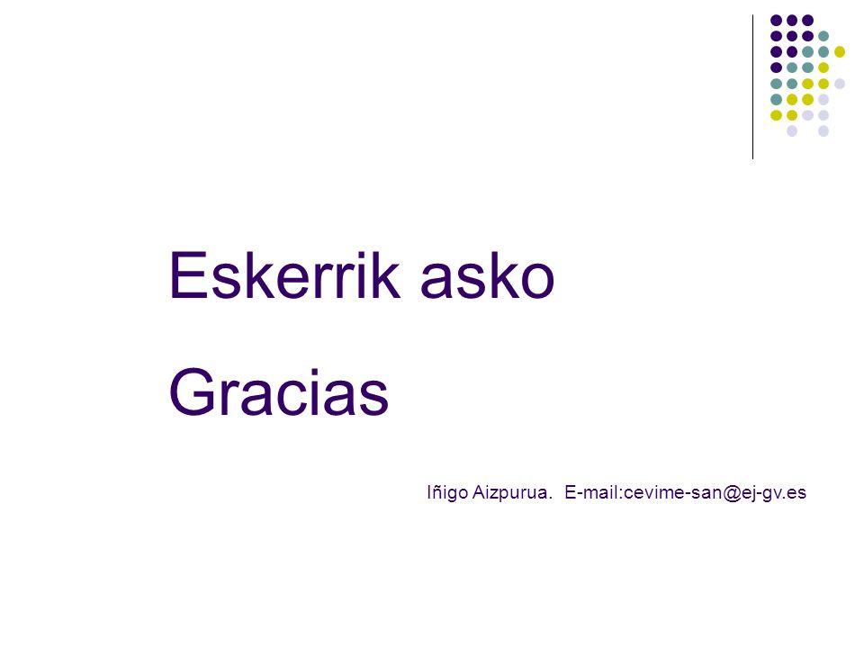 Eskerrik asko Gracias Iñigo Aizpurua. E-mail:cevime-san@ej-gv.es
