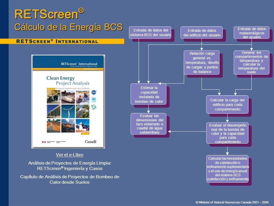 RETScreen® Cálculo de la Energía BCS