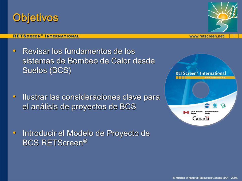 Objetivos Revisar los fundamentos de los sistemas de Bombeo de Calor desde Suelos (BCS)