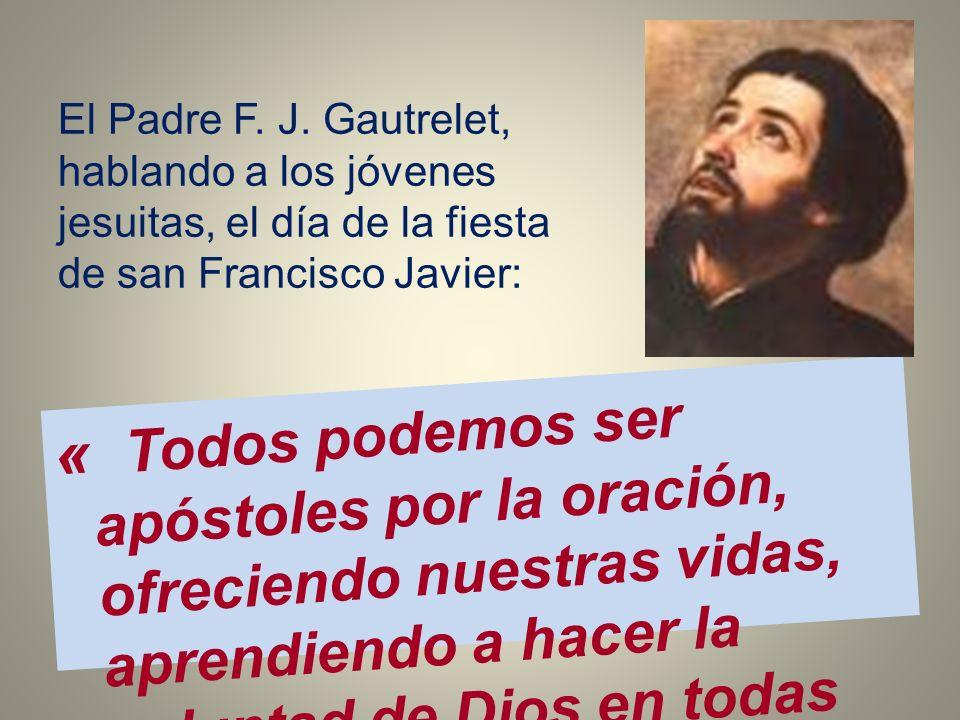 El Padre F. J. Gautrelet, hablando a los jóvenes jesuitas, el día de la fiesta de san Francisco Javier: