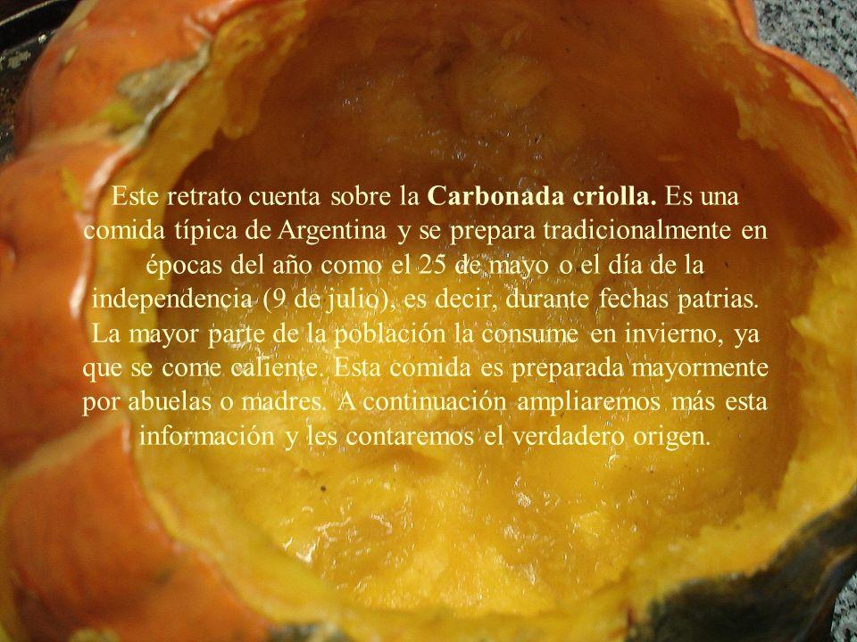 Este retrato cuenta sobre la Carbonada criolla