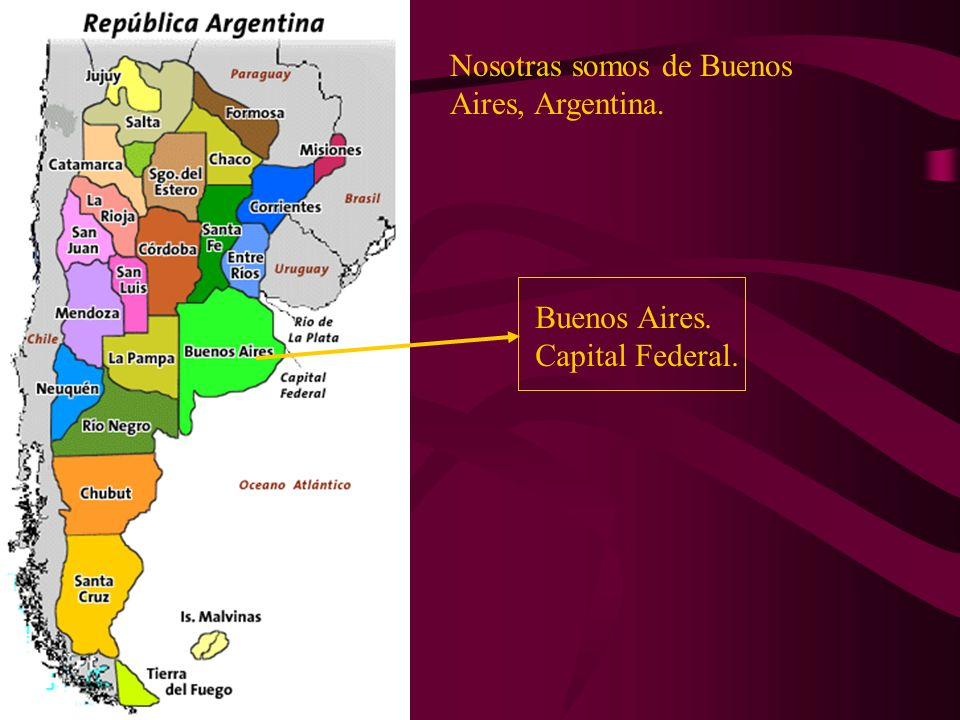 Nosotras somos de Buenos Aires, Argentina.