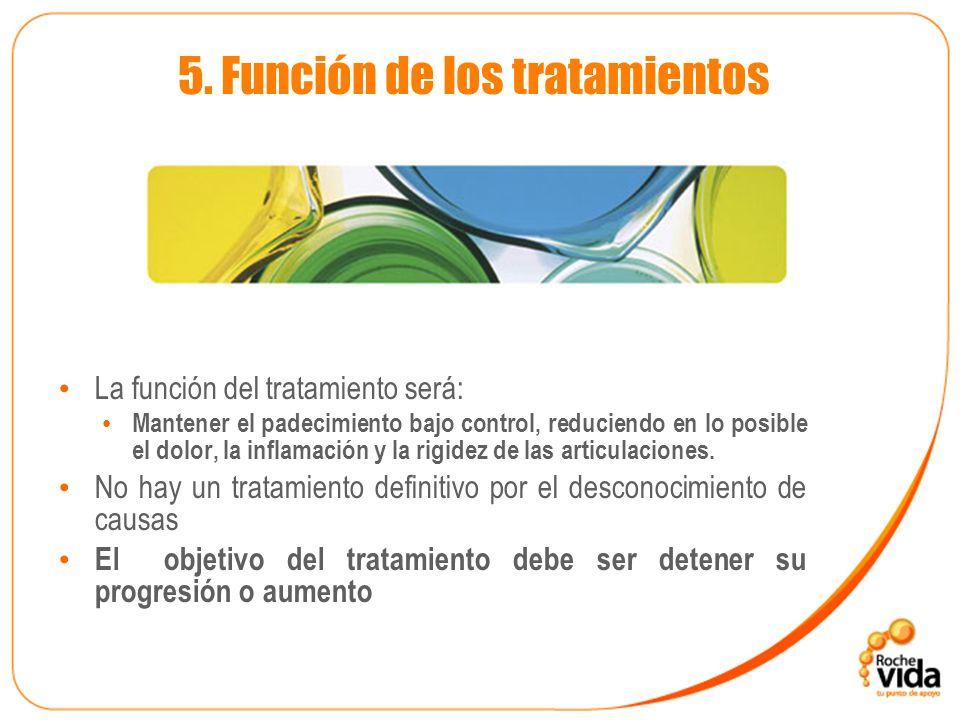 5. Función de los tratamientos