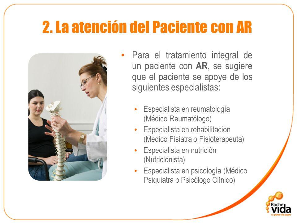 2. La atención del Paciente con AR